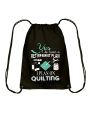 I PLANT ON QUILTING Drawstring Bag thumbnail