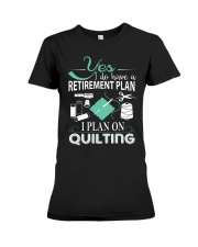 I PLANT ON QUILTING Premium Fit Ladies Tee thumbnail