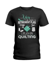 I PLANT ON QUILTING Ladies T-Shirt thumbnail