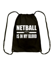 NETBALL IS IN MY BLOOD Drawstring Bag thumbnail