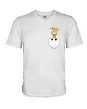 GIRAFFE POCKET V-Neck T-Shirt thumbnail