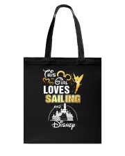 This girl loves sailing Tote Bag tile