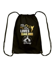 This girl loves sailing Drawstring Bag tile
