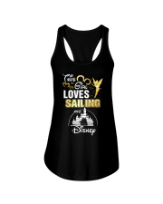 This girl loves sailing Ladies Flowy Tank thumbnail