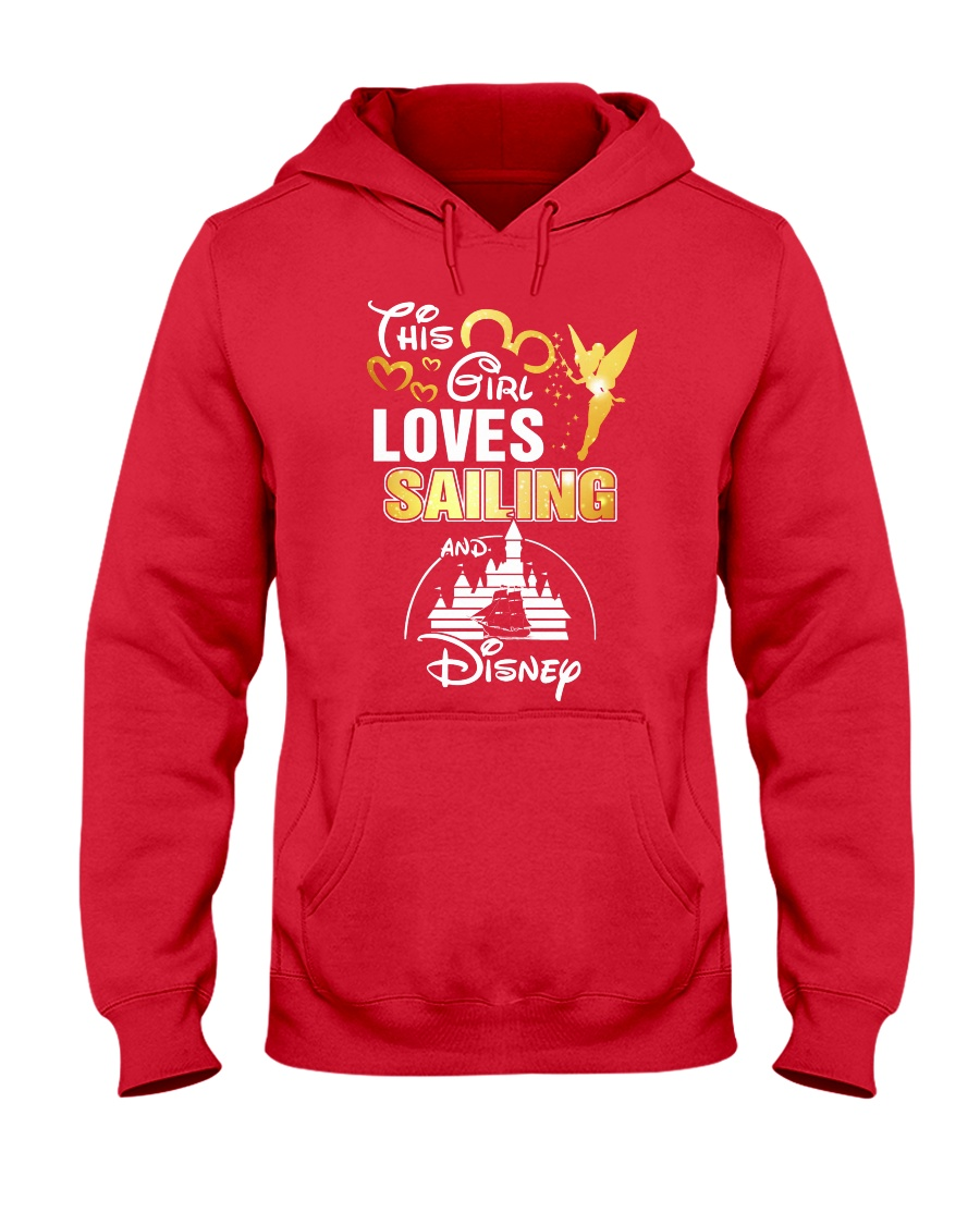 This girl loves sailing Hooded Sweatshirt