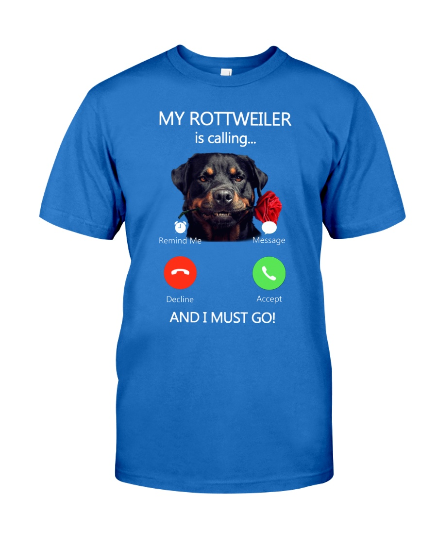 MY ROTTWEILER IS CALLING Premium Fit Mens Tee