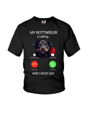 MY ROTTWEILER IS CALLING Youth T-Shirt thumbnail