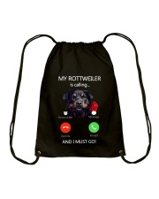 MY ROTTWEILER IS CALLING Drawstring Bag thumbnail