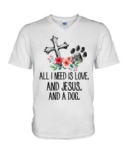 ALL I NEED IS LOVE V-Neck T-Shirt thumbnail