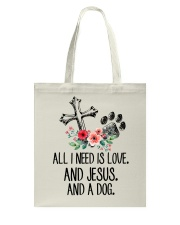 ALL I NEED IS LOVE Tote Bag thumbnail