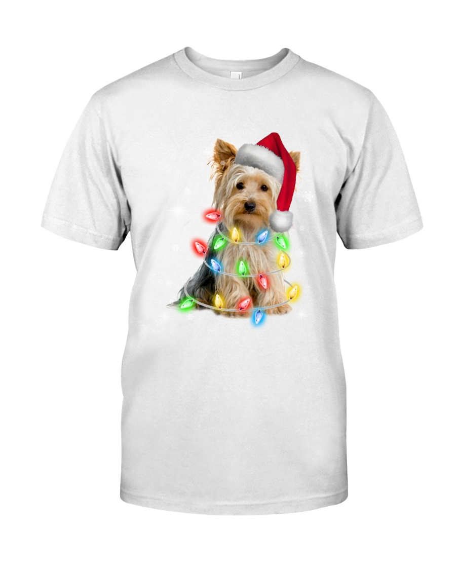 YORKSHIRE TERRIER CHRISTMAS Premium Fit Mens Tee