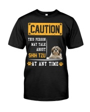 THIS PERSON MAY TALK ABOUT SHIH TZU Premium Fit Mens Tee thumbnail