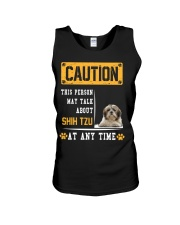 THIS PERSON MAY TALK ABOUT SHIH TZU Unisex Tank thumbnail