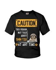 THIS PERSON MAY TALK ABOUT SHIH TZU Youth T-Shirt thumbnail
