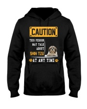 THIS PERSON MAY TALK ABOUT SHIH TZU Hooded Sweatshirt thumbnail