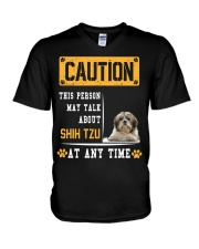 THIS PERSON MAY TALK ABOUT SHIH TZU V-Neck T-Shirt thumbnail