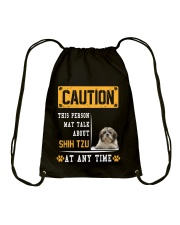 THIS PERSON MAY TALK ABOUT SHIH TZU Drawstring Bag thumbnail