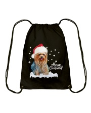 YORKSHIRE TERRIER CHRISTMAS Drawstring Bag thumbnail