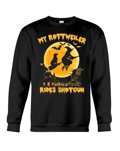 MY ROTTWEILER RIDES SHOTGUN