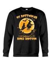 MY ROTTWEILER RIDES SHOTGUN Crewneck Sweatshirt thumbnail