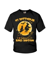 MY ROTTWEILER RIDES SHOTGUN Youth T-Shirt tile