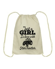 JUST A GIRL IN LOVE WITH HER TRACTOR Drawstring Bag thumbnail