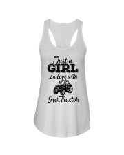 JUST A GIRL IN LOVE WITH HER TRACTOR Ladies Flowy Tank thumbnail
