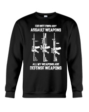 ALL MY WAPONS ARE DEFENSE WEAPONS Crewneck Sweatshirt thumbnail