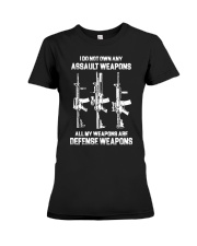 ALL MY WAPONS ARE DEFENSE WEAPONS Premium Fit Ladies Tee thumbnail