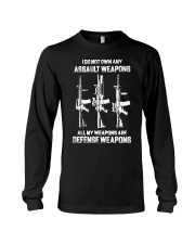 ALL MY WAPONS ARE DEFENSE WEAPONS Long Sleeve Tee thumbnail