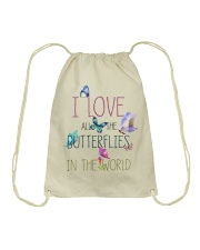 I LOVE BUTTERFLIES Drawstring Bag thumbnail