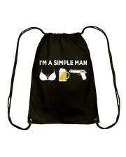 I'M A SIMPLE MAN Drawstring Bag thumbnail