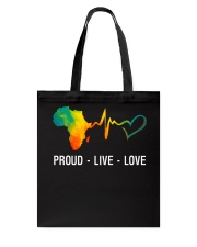 PROUD LIVE LOVE Tote Bag tile