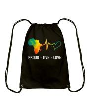 PROUD LIVE LOVE Drawstring Bag thumbnail