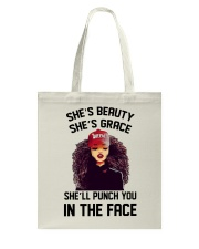 SHE'LL PUNCH YOU IN THE FACE Tote Bag thumbnail