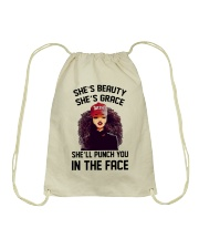 SHE'LL PUNCH YOU IN THE FACE Drawstring Bag thumbnail