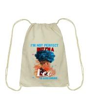 LEO CLOSE ENOUGH TO PERFECT Drawstring Bag thumbnail