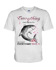 EVERYTHINGS-SHARK V-Neck T-Shirt thumbnail