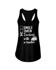 INVOLVED WITH A TRACTOR Ladies Flowy Tank thumbnail