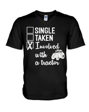 INVOLVED WITH A TRACTOR V-Neck T-Shirt thumbnail