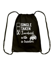 INVOLVED WITH A TRACTOR Drawstring Bag thumbnail