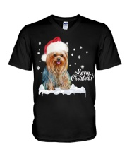 YORKSHIRE TERRIER CHRISTMAS V-Neck T-Shirt thumbnail