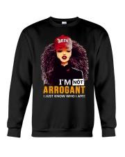 I AM NOT ARROGANT Crewneck Sweatshirt thumbnail