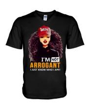 I AM NOT ARROGANT V-Neck T-Shirt thumbnail