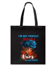 ARIES CLOSE ENOUGH TO PERFECT Tote Bag tile