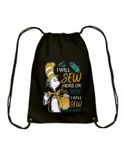 I WILL SEW HERE OR THERE Drawstring Bag thumbnail