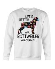 SHE ALSO NEEDS A ROTTWEILER Crewneck Sweatshirt tile