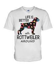 SHE ALSO NEEDS A ROTTWEILER V-Neck T-Shirt tile
