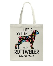 SHE ALSO NEEDS A ROTTWEILER Tote Bag tile