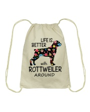 SHE ALSO NEEDS A ROTTWEILER Drawstring Bag thumbnail